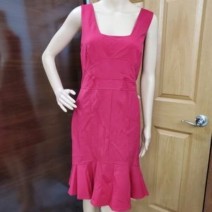 Ann Talor Short Sleeve Fitted Dress w/Light Ruffle